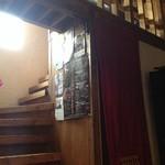 デルソル カフェ - 二階への階段。