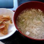 好味苑 - 好味苑 @本蓮沼 ライスセットの溶き玉子トロミスープと搾菜