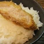 41551523 - 「信州ポーク塩とんかつオンザライス」。美味い。(^^)