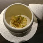 代官山 RINGRAZIARE KOJI MORITA - 鱧と松茸のかぼすマリネ