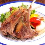 ラムチョップのハーブロースト グリル野菜