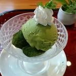 41555035 - 抹茶わらび餅ミニパフェ