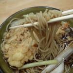 喜道庵 - 天なんそばの蕎麦アップ