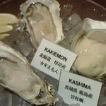 41558661 - 岩牡蠣と真牡蠣の盛り合わせ。