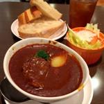 サンドッグイン神戸屋 - 牛ほほ肉のシチューセット(食事パン食べ放題)