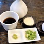 正覚 田中屋 - つけ汁と薬味