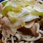 角萬 - 肉南蛮蕎麦(普通盛)暖かい