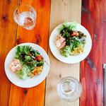 イタリア酒場料理 チェリーナ邸 北浜淀屋橋店 - お冷と前菜