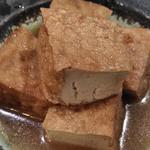 麦酒庵 - 厚揚げの旨煮