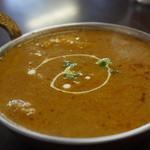 インド料理 ビシュヌ - チキンカレー・・辛口にしたけど、そんなに辛くない。