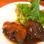 41576571 - 牛肉の赤ワイン煮込み(マッシュポテト・サラダ・パン付き) 1200円