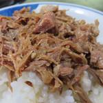 島系本店 - 煮豚めし小380円。