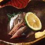 汀の月 - 秋刀魚刺身