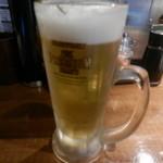 魚椿 - 生ビール(ザ・プレミアムモルツ)