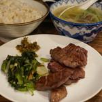 41582705 - 牛たん炭焼定食(麦飯、テールスープ付)1人前