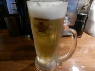 魚椿 栄店 - 生ビール(ザ・プレミアムモルツ)