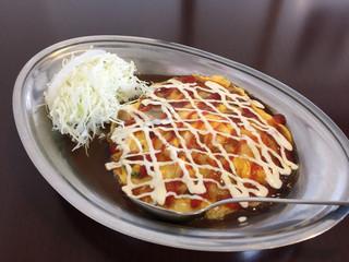 インデアンカレー 本店 - 野菜玉子カレーM(670円)
