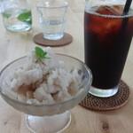 カフェ グローブ - ラフランスのシャーベット&フローラアイスコーヒー