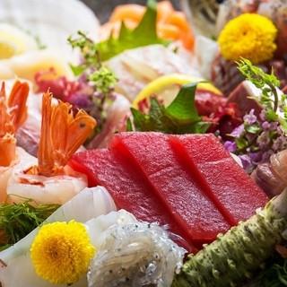 魚がし鮨が自信を持って提供する自慢の刺身!