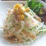 41590819 - 今回のAセット マーボナス の粥のサラダ