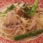 トラットリア サン - 夏野菜入りアンチョビ風味のあさりのスパゲティ