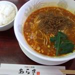 中国四川料理 あらき - タンタン麺:白飯 2015.8