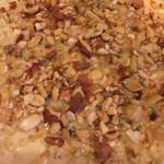 ラ ストラーダ - ゴルゴンゾーラとナッツのピザ 蜂蜜は別添えで。 こんなの初めて‼️美味しかった。