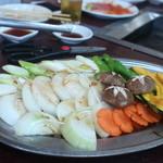 焼肉 京城 - 野菜焼き