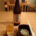 あべちゃん - 瓶ビール(600円)、たこわさび(350円)