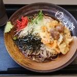ゆで太郎 - 料理写真:秋栗とあさりの冷しかきあげそば¥480-