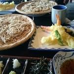 レストラントレインギャラリーとんかつ&そば処 - 料理写真:二八大天ざる