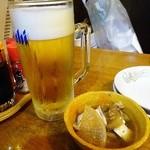 あすなろ - 生ビール¥290/お通し
