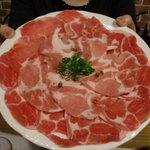 闘魂居酒屋 鉄人 - しゃぶしゃぶのお肉