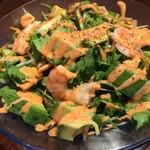肉汁水餃子 餃包 - えびとアボカドの中華マヨサラダ