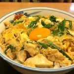 つるてん生楽 - 親子丼、大盛り850円(2015.9.6)