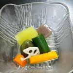 宝来寿司 - 夏野菜煮浸し(H27.8.15撮影)