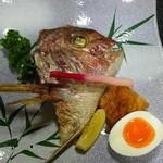 宝来寿司 - 鯛兜焼き(H27.8.15撮影)