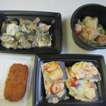 ソレイユ - 私はランチは済ませてたんで晩御飯用のお惣菜を4種類購入して帰りました。