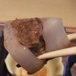 41622049 - ミンチ肉入り大根。このミンチ肉がけっこうハマル美味さ。