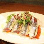 オステリア メグロ - 秋刀魚のカルパッチョ