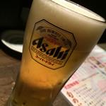 Kaisenizakayamatsurishungyotokyouyasaitoosakenoomise - アサヒスーパードライ ¥480+税