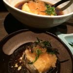 Kaisenizakayamatsurishungyotokyouyasaitoosakenoomise - 自家製揚げたて揚出し豆腐 ¥380+税