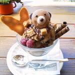 41627290 - 2013/7 パフェタチv こんなに愛らしい見た目でもエスプレッソコーヒーのアイスなのでかなり苦味が強い大人の味です。それが美味しいのですが、お子様には厳しい苦さかと…w