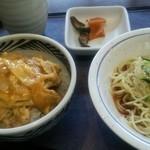 とんこう - 料理写真:ミニヒレカツ丼&ミニ冷やし中華(850円) H27.8