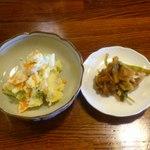 台湾創作料理 公 - ポテトサラダ・キムチ