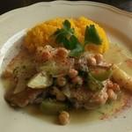 41634386 - 若鶏とヒヨコ豆の白ワイン煮