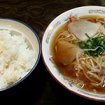 Tangoya - 中華そば大 600円&ライス大 300円