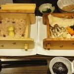 豆とくるみ - 『季節野菜とおこわの蒸篭蒸し膳』1,250円