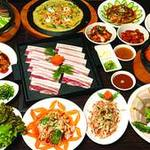 チェゴヤ - 韓国で人気の豚三枚肉(サムギョプサル)のコース!全12品です!!