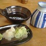 八甲田そば処きこり - 薬味一式。